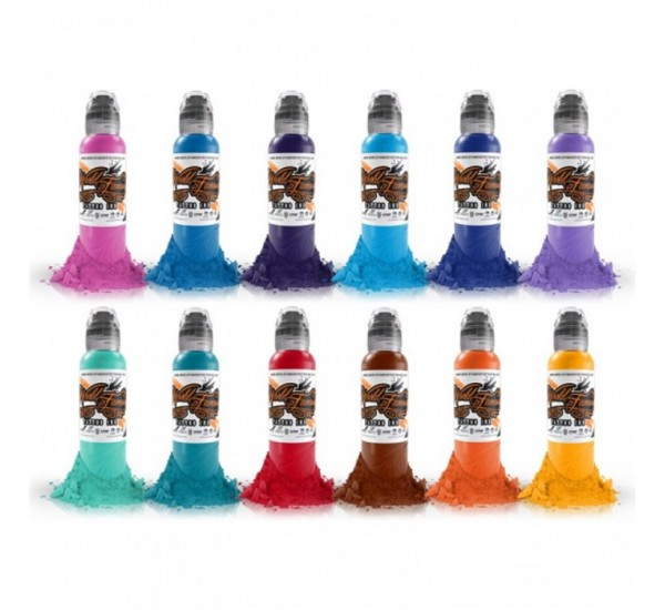 World  Famous PRIMARY 2 ink SET 12 x 30 ml