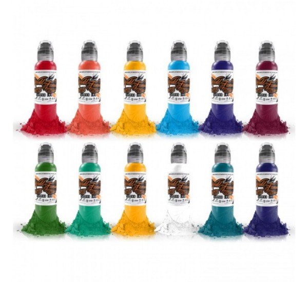 World  Famous PRIMARY 3 ink SET 12 x 30 ml
